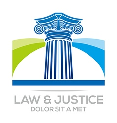 Logo Law Building and Justice Icon vector image vector image