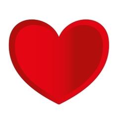 love heart shape romantic icon vector image vector image
