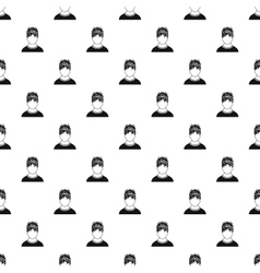 Male avatar and stress pattern simple style vector