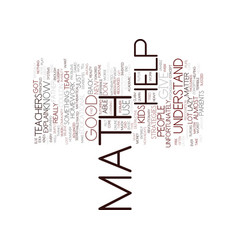 Math help text background word cloud concept vector