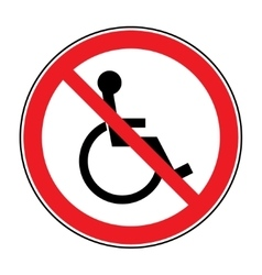 no disabled sign vector image