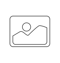 photo of landscape symbol vector image vector image