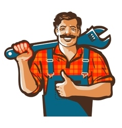 Plumbing services logo plumber worker or vector