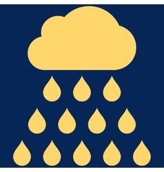 Rain Cloud Flat Symbol vector image