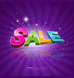 Sale message promotional products vector image vector image