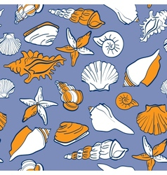 sea seamless pattern vector image vector image