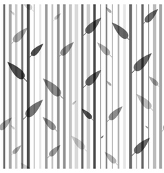 Seamless black and white pattern of stovolov trees vector image vector image