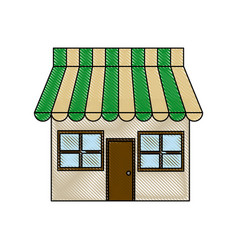 store market shop exterior window door vector image vector image