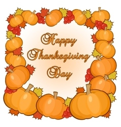 Thanksgiving day greetings card vector image