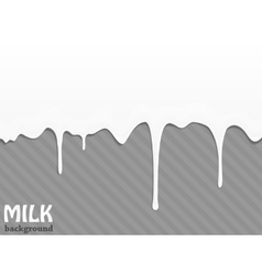 Flowing milk drops vector image
