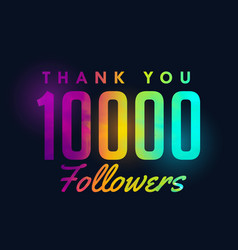 10k social media followers success template design vector image