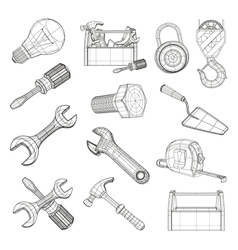 Drawing tools set vector image