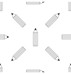 Pencil icon seamless pattern vector
