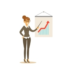 Marketing Specialist Doing Presentation Business vector image