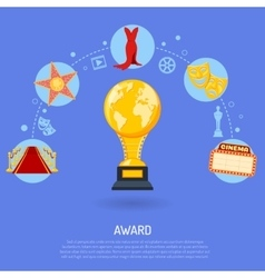 Cinema award concept vector