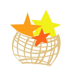 The stars in a basket vector