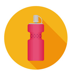Bottle water modern flat icon with long shadow vector
