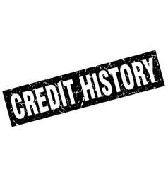 Square grunge black credit history stamp vector