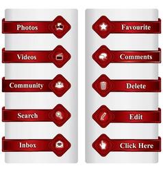 Social media sign and symbol vector
