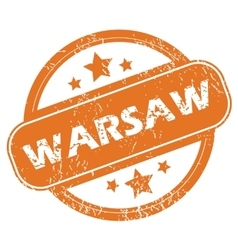 Warsaw rubber stamp vector