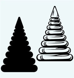 Pyramid from plastic rings vector