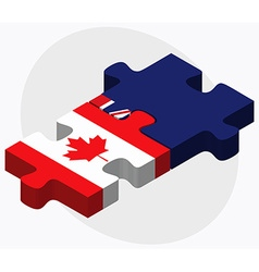Canada and cayman islands vector