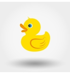 Rubber duck toy vector
