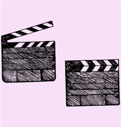 Clapper board cinema vector