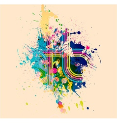 Abstract with colorful splatter vector