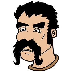 Moustache man vector