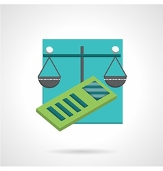 Accountancy abstract flat icon vector