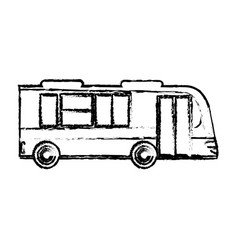 Bus business transport vehicle sketch vector