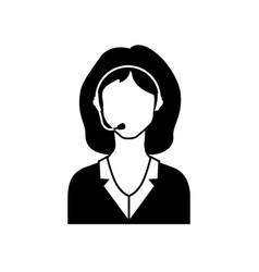 call center female avatar icon vector image vector image