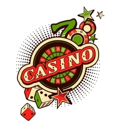 Casino logo on a white background vector