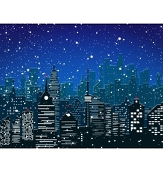 Christmas and new year winter urban cityscape vector image vector image