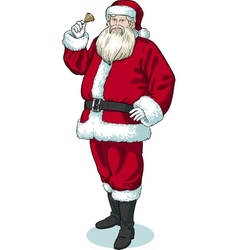 Christmas Character Santa Claus cartoon with black vector image vector image