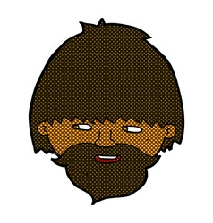 comic cartoon bearded man vector image vector image