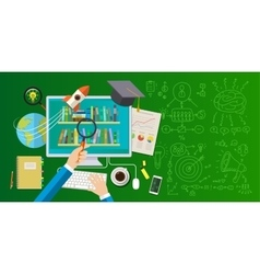 Concept of online education vector image vector image