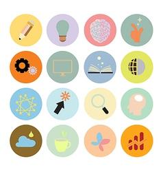 Creative set icon flat design eps10 vector