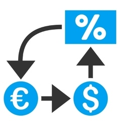 Currency Cashflow Flat Icon vector image