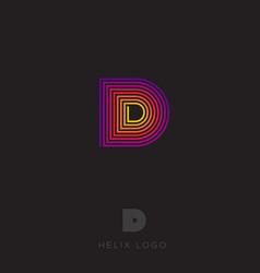 d logo d emblem vector image