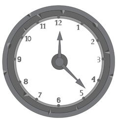 Dial hours on white vector image