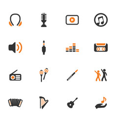disco or club icons set vector image vector image