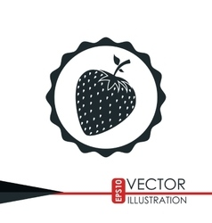 fresh fruit design vector image vector image