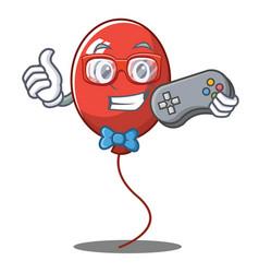 Gamer balloon character cartoon style vector