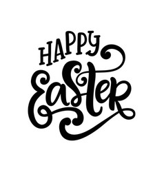 Happy easter banner greeting card template vector