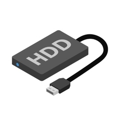 Hard disk drive icon cartoon style vector image vector image