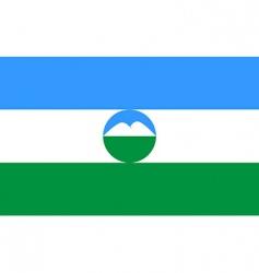Kabardino Balkaria flag vector image vector image