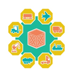 Logistic concepts vector image vector image