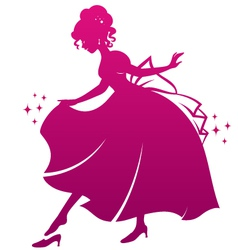 princess and her shoe vector image